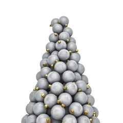 Christmas ornaments peak silver