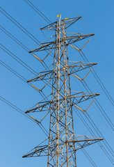 high voltage power tower