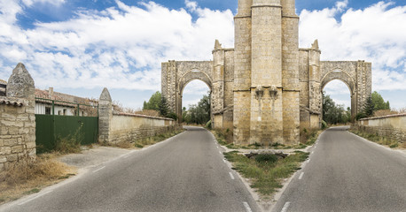 Monastery of San Anton Ruins, Castrojeriz, Spain - creative edit