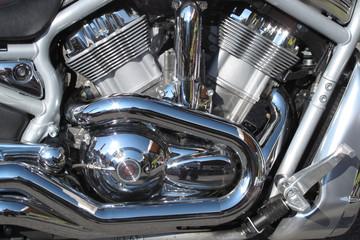 particolare costruttivo del motore di motocicletta sportiva