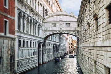 View of Bridge of Sighs in Venice, Italy