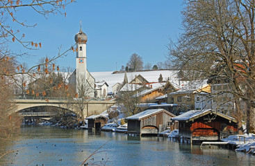 Mangfall - Fluss am Tegernsee in Gmund