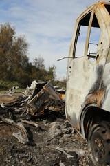 Unfall, verbrannt, ausgebrannt, Autowrack