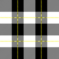 black and white seamless tartan plaid