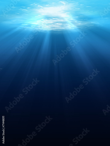 Aluminium Zee / Oceaan Underwater scene background