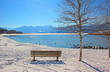 canvas print picture - Winterruhe am Tegernsee