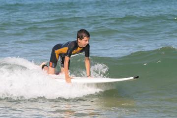 A genoux sur mon surf
