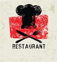 Restaurant grunge symbol,grunge vector