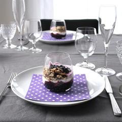 Müsli und Joghurt Dessert