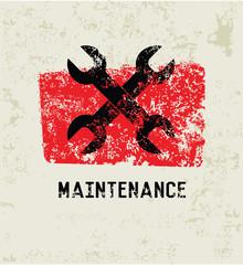 Maintenance grunge symbol,grunge vector