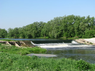 Damb at Osetr river, Moscow region, Russia