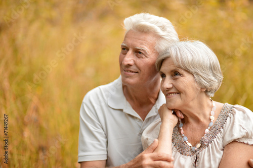 canvas print picture Happy old couple