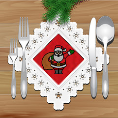 Christmas Napkin Table