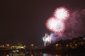Prague firework
