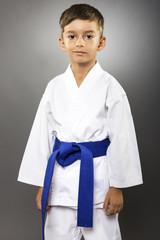 Portrait of an adorable little boy  in kimono