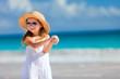 Adorable little girl at beach