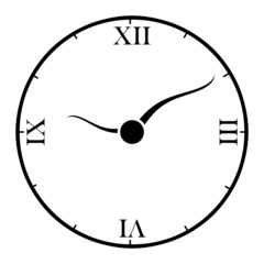 Circle clock with roman number