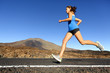 Sprinting running woman - female runner training