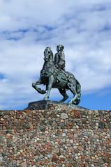 Equestrian statue of Empress Elizabeth Petrovna. Baltiysk, Russi