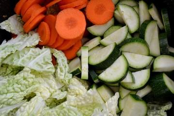 Légumes en morceaux