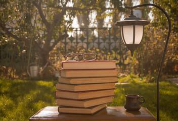 Книги в саду