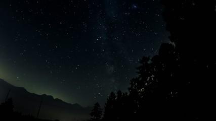cielo notturno e via lattea