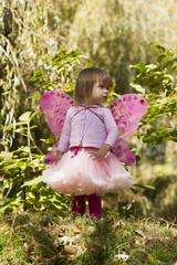 Девочка в костюме бабочки