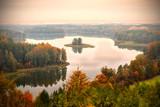 Jedzelwo Lake in autumn. Masuria, Stare Juchy.