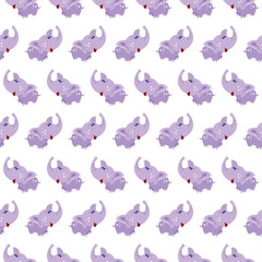 Vector seamless elephant baby pattern background.