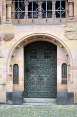 Tür am Ordinariat in Freiburg