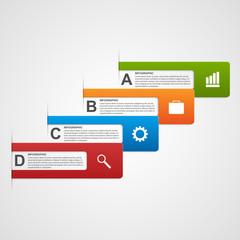 Vector business options infographics.
