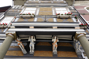 Schmuckfassade an historischen Häusern