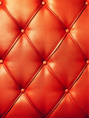 Red texture of artificial leather.