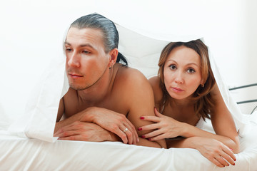 couple having problem in bed