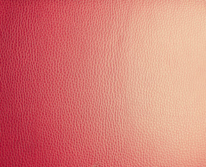 Red leather.