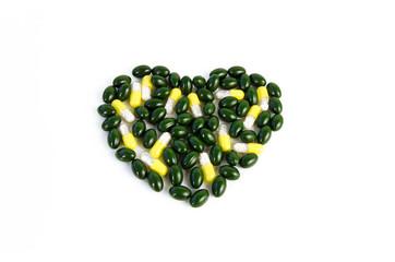 Gesundes Herz aus grünen Pillen