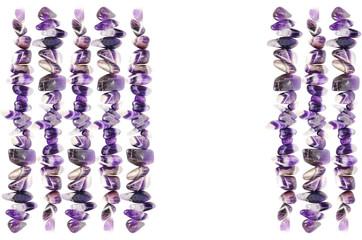 Muster mit Amethyst Edelsteinen Heilsteine