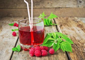drink of fresh raspberries