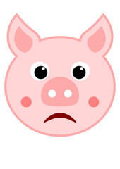 Cochon triste