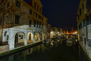 Canal at the old town of Chioggia - Italy