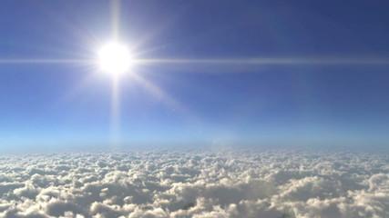 Sky of Sun light times lapse