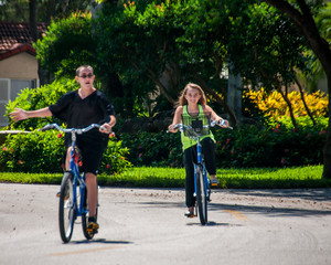 Siblings on Bicycles