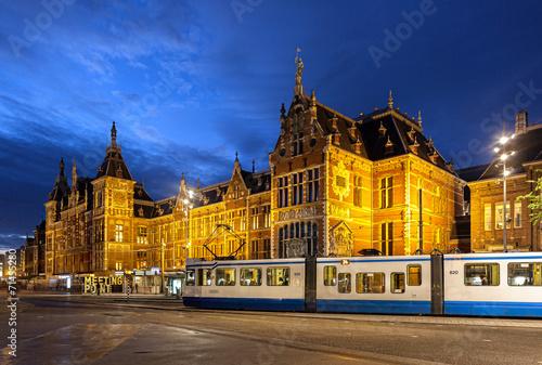 Foto op Aluminium Amsterdam Amsterdam Central Station