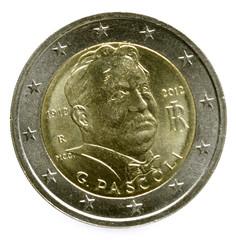 Two Euro Italia Giovanni Pascoli Пасколи, Джованни
