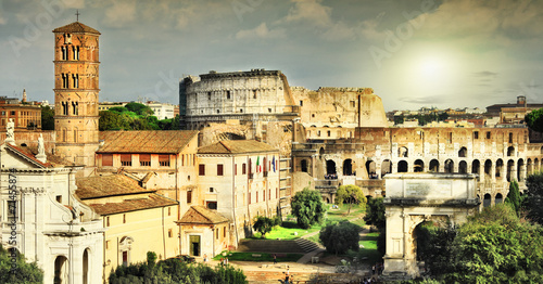 Great Rome, view of Colosseum and Forums - 71455874