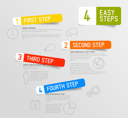 Infographic 4 steps template
