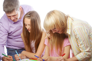 nice family drawing