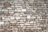 Fototapety Ancient gray stone wall, background photo texture