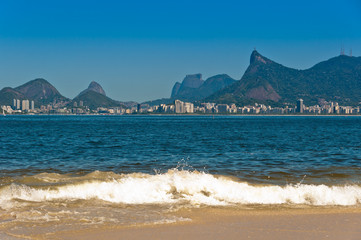 Rio de Janeiro Mountains from the Icarai Beach in Niteroi