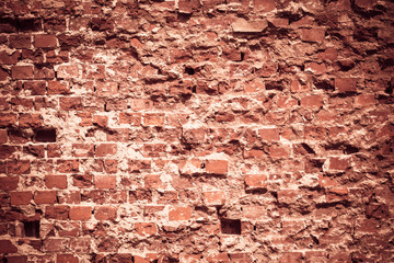 Old grungy background of a brick wall texture